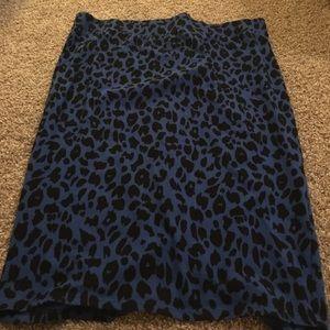 Blue and black leopard print? I think so!